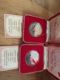 $10 silver proof horse x 2