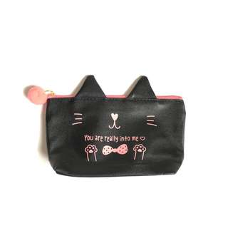 Manga Collectible Cat Pouch with Mini Furrball