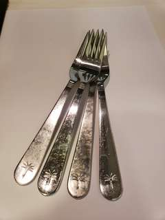 Singapore Airlines Business class Givenchy Fork cutlery