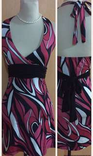 Mini backless dress
