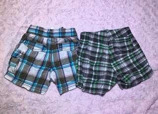 carter's checkered shorts (9months)