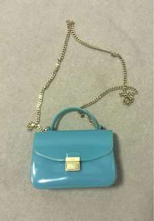 Authentic Furla Small Blue Bag
