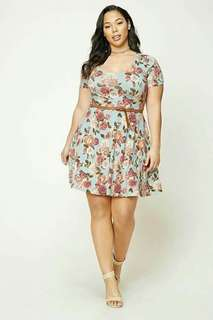 🐢Floral plus size dress