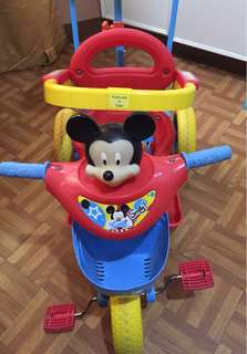 Mickey Mouse 2 in 1 Trike with shade