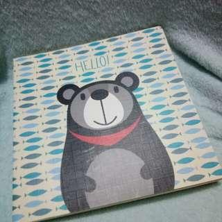 Sketchbook Notebook Bear Blue