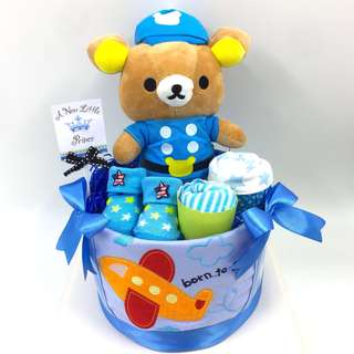 Ready Stock- Baby Diaper Cake for boy