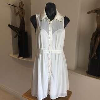 (M) DOTTI WHITE DRESS