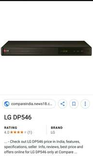 LG dvd player pawned receipt