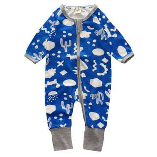 Baby Kids Boys Girls Dessert Blue Sleepsuit (Newborn - 2years)