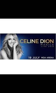 Celine Dion Vip 1 coral tickets n15-16