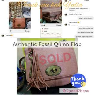 SOLD! Authentic Fossil Quinn Flap