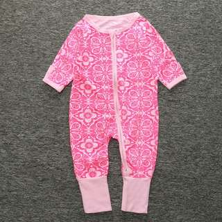 Baby Kids Boys Girls Pink Rose Sleepsuit (Newborn - 2years)
