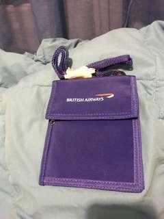 British Airway 証件袋