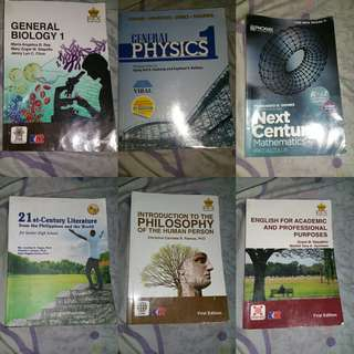 GRADE 11 AND 12 SHS BOOKS
