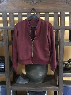 Waffle-Knitted Jacket