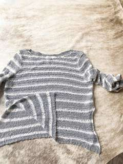 Hollister grey and white striped Top size XS