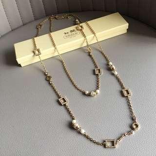 Coach long chain necklace