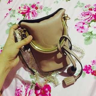 Nude Pink Mini Sling Bag