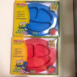 nuby silicone suction plate (3 divider)