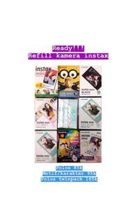 GOSEND READY STOCK REFILL INSTAX MINI POLAROID BLACK SKYBLUE AIRMAIL MACARON RAINBOW MINION