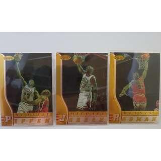 Michael Jordan/Scottie Pippen/Dennis Rodman - 1996-97 Bowman's Best NBA Trading Cards