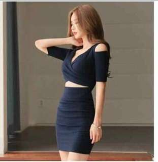Sexy Office Attire Terno (Navy Blue)