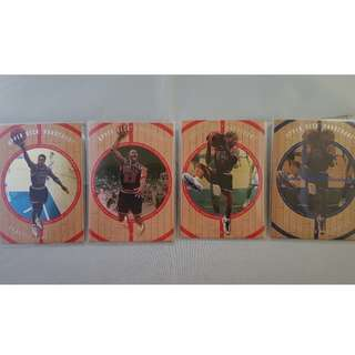 Michael Jordan/Scottie Pippen/Dennis Rodman - 1998 Upper Deck Hardcourt NBA Trading Cards