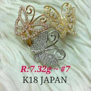 ( size: 7 ) 18K JAPAN GOLD RING