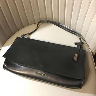 Jil Sander Vintage Minimalist Leather Shoulder Bag Clutch