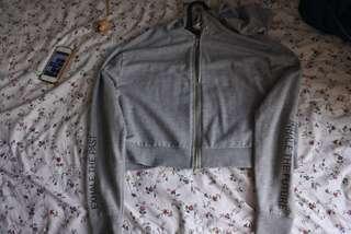 H&M hoodie jacket grey