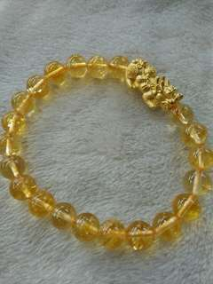 CITRINE WITH 24K PI YAO
