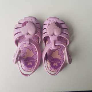 Zaxy Nina Pink Heart s6 size 6 runs small vs mini melissa shoes jelly pvc sandals comfy