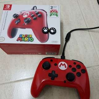Nintendo Switch Mario Controller (Wired) Like New!
