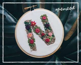 Personalised gift, Initial embroidery