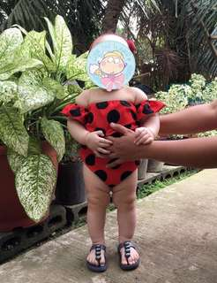 Lady Bug Print Jumpsuit