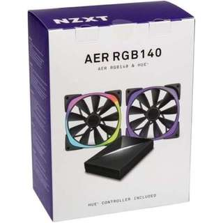 NZXT Aer RGB LED 140mm Starter Pack Case Fan (NZXT-RF-AR140-C1)