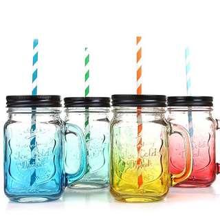 Multi Colored Mason Jar Mug