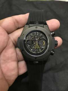 Hublot Unico Black Skeleton Chronograph