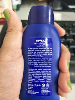 Nivea travel lotion