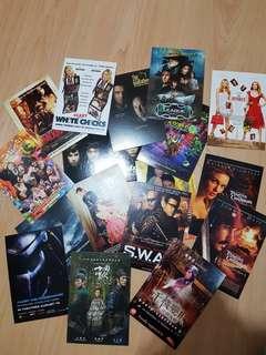 Assorted Blockbuster Movie Postcards