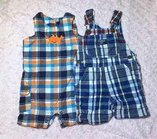 2 jumper shorts (9-12months)