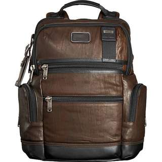 Tumi Alpha Knox Leather Brown Backpack with Great Condition