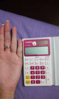 Calculator pink casio
