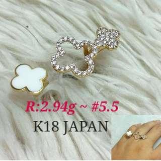 ( size: 5.5 ) 18K JAPAN GOLD RING '''....