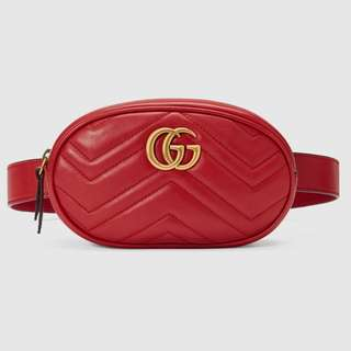 ✨gucci marmont waist bag red