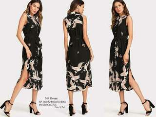 SLIT DRESS Fits S To L  Price : 450