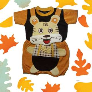Newborn Smart Tiger Dungeree+ Tee