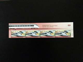 Malaysia 2018 Electric Train 4V Stamps Mint with Stamp Title