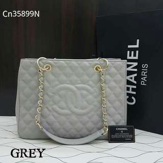 Chanel Giant Shopping Tote Grey Color