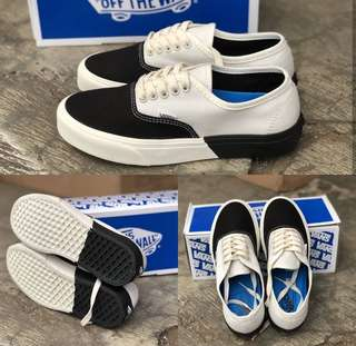 Vans authentic off white and black